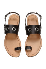 Leather sandals - Black - Ladies | H&M CN 3