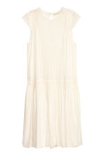 Viscose dress - Natural white - Ladies | H&M CN 2