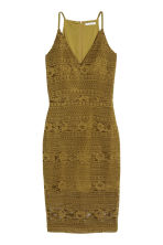 Lace dress - Olive green - Ladies | H&M CN 2