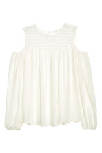 Cold shoulder blouse - Natural white - Ladies | H&M CN 2