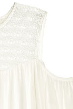 Cold shoulder blouse - Natural white - Ladies | H&M CN 3