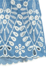 Embroidered cotton shorts - Blue/Chambray - Ladies | H&M CN 4
