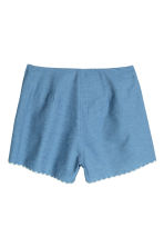 Embroidered cotton shorts - Blue/Chambray - Ladies | H&M CN 3