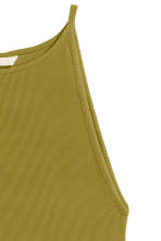 Ribbed jersey dress - Olive green - Ladies | H&M CN 3