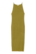Ribbed jersey dress - Olive green - Ladies | H&M CN 2