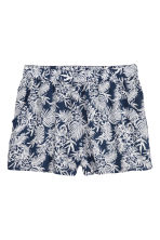 Short shorts - Dark blue/White patterned - Ladies | H&M CN 2