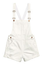 Dungaree shorts - White - Ladies | H&M CN 2