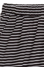 Wide shorts - Black/Striped - Ladies | H&M CN 3