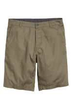Cotton shorts - Khaki green - Men | H&M CN 2