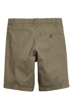 Cotton shorts - Khaki green - Men | H&M CN 3