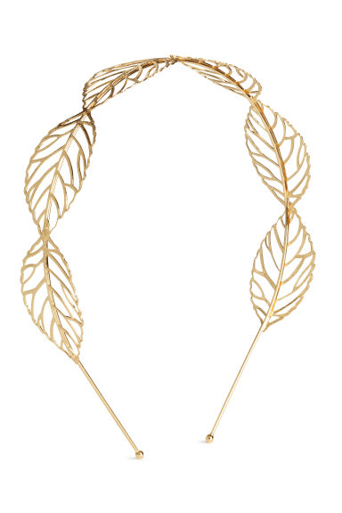 Alice band with leaves - Gold - Ladies | H&M IE 1