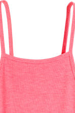 Ribbed jersey dress - Pink - Ladies | H&M CN 3