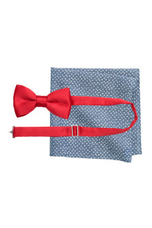 Bow tie and handkerchief