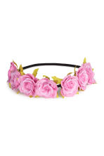 Hairband with flowers - Pink - Ladies | H&M GB 1