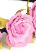 Hairband with flowers - Pink - Ladies | H&M GB 2
