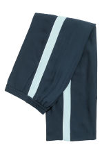Wide trousers with stripes - Dark blue - Ladies | H&M CN 3