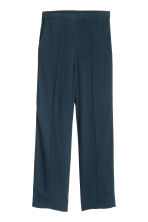 Wide trousers with stripes - Dark blue - Ladies | H&M CN 2