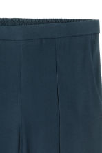 Wide trousers with stripes - Dark blue - Ladies | H&M CN 4
