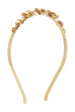 Alice band with flowers - Gold - Ladies | H&M CN 1