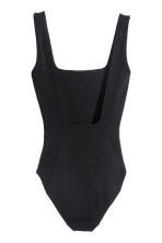 Ribbed body - Black - Ladies | H&M CN 3