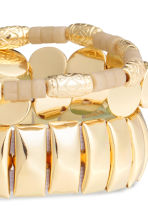 3-pack bracelets - Gold - Ladies | H&M CN 3