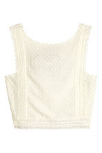 Top corto in pizzo - Bianco naturale - DONNA | H&M IT 2