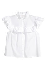Frilled blouse - White - Ladies | H&M GB 2
