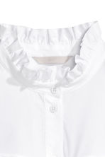 Frilled blouse - White - Ladies | H&M GB 3