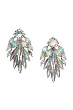 Sparkly earrings - Silver/Sparkly gems - Ladies | H&M CN 1