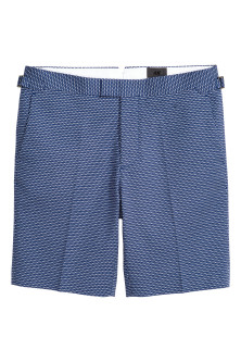 Jacquard-weave city shorts