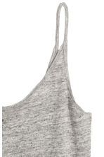 Linen jersey strappy top - Grey marl - Ladies | H&M CN 3