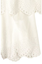 Embroidered playsuit - White - Ladies | H&M CN 3