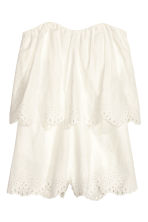 Embroidered playsuit - White - Ladies | H&M CN 2