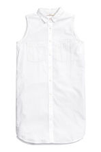 Sleeveless shirt dress - White - Ladies | H&M CN 1