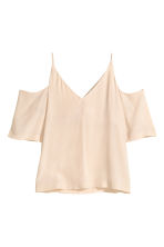 Cold shoulder blouse - Light beige - Ladies | H&M CN 2