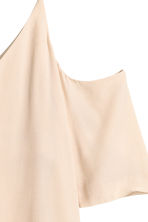 Cold shoulder blouse - Light beige - Ladies | H&M CN 3