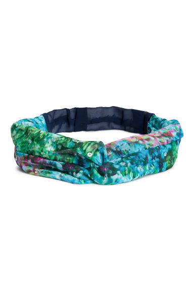 Chiffon hairband - Turquoise/Patterned - Ladies | H&M CN 1