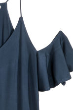 Cold shoulder top - Dark blue - Ladies | H&M CN 3