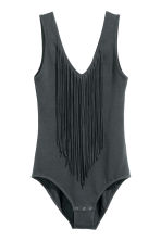 Fringed body - Dark grey - Ladies | H&M CN 2