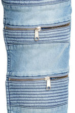 Skinny Regular Biker Jeans - Light denim blue - Men | H&M CN 3