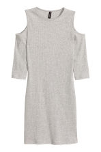 Cold shoulder dress - Grey marl - Ladies | H&M CN 2