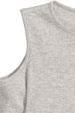 Cold shoulder dress - Grey marl - Ladies | H&M CN 3