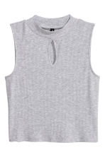 Jersey turtleneck top - Grey marl - Ladies | H&M CN 2