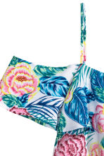 Camicetta a spalle scoperte - Turchese/rosa fantasia - DONNA | H&M IT 3