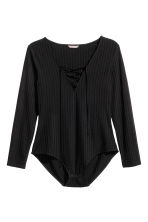 H&M+ Ribbed body - Black - Ladies | H&M CN 2