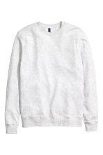 Sweatshirt - Light grey - Men | H&M GB 2