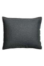 Washed linen pillowcase - Anthracite grey - Home All | H&M CN 2