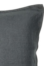 Washed linen pillowcase - Anthracite grey - Home All | H&M CN 3