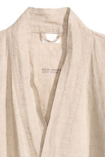 Washed linen dressing gown - Linen beige - Home All | H&M CN 2