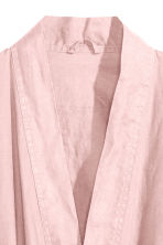 Washed linen dressing gown - Dusky pink - Home All | H&M CN 3